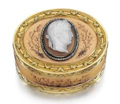 A Fabergé jewelled gold, enamel and agate box, workmaster Michael Perchin, St Petersburg, 1895-1899