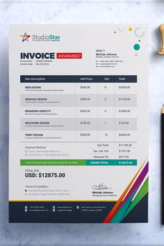 Invoice template  Photography invoice  Business invoice  Receipt     Invoice template  Photography invoice  Business invoice  Receipt template  for Photographers  Photography forms  Photoshop template  PSD file   milk