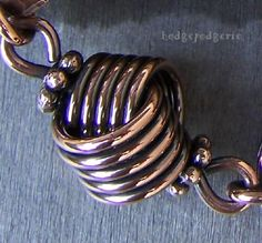 The Love Knot.  Very cool.  This would look great in a bracelet or at the clasp.