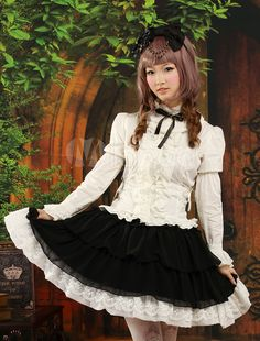 Classic Multi Color Long Sleeves Chiffon Lolita Outfits