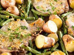 Recipe: One Pan Parmesan Pork Chops and Veggies