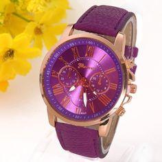 1092495f394 NEW Best Quality Geneva Platinum Watch Women PU Leather wristwatch casual  dress watch reloj ladies gold gift Fashion Romantic