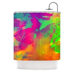 Kess InHouse Danny Ivan Austra Pink Green Shower Curtain 69 by 70Inch *** Be sure to check out this awesome product.