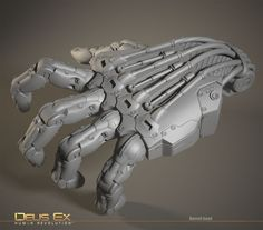 ZBrush Interview: Deus Ex Human Revolution Robot Design, 3d Design, Hard Surface Modeling, 3d Modeling, Mechanical Arm, Robot Hand, Arte Robot, Sci Fi Armor, Matte Painting