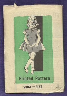 Vintage 1950s Mail Order Pattern 9384 Little by DaisyMaeandMe, $9.00