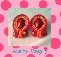 #soutache #moda #earrings Earrings, Design, Ear Studs, Stud Earrings, Ear Rings, Ear Piercings, Design Comics, Pierced Earrings
