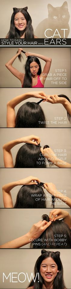 Style your Hair in to Cat Ears – DIY