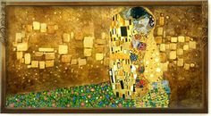 Gustav Klimt's 150th birthday, way to go Google! The Kiss is one of my favorite pieces of art ever <3