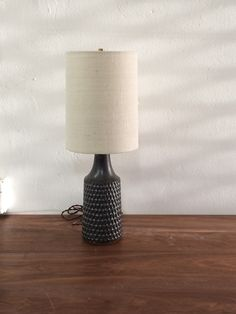 Image of Carved Metallic Black Lamp Lamp, Pottery, Black Lamps, Lamp Light, Home Decor, Lights, Metal, Carving, Furnishings
