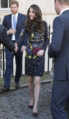 Duchess Catherine of Cambridge, Prince William and Prince Harry attended a briefing for Heads Together ahead of the 2017 Virgin Money London Marathon held at ICA on January 17, 2017 in London.