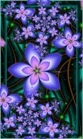 by Iwuchska on DeviantArt Flowery Wallpaper, Flower Phone Wallpaper, Cellphone Wallpaper, Flower Backgrounds, Wallpaper Backgrounds, Cool Optical Illusions, Purple Art, Pretty Wallpapers, Background Pictures
