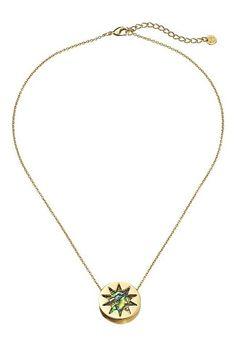 House of Harlow 1960 Abalone Mini Sunburst Pendant Necklace (Abalone) Necklace - House of Harlow 1960, Abalone Mini Sunburst Pendant Necklace, N002105A, Jewelry Necklace General, Necklace, Necklace, Jewelry, Gift, - Fashion Ideas To Inspire