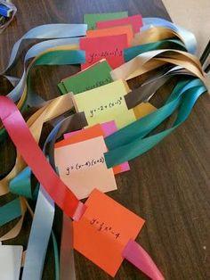 M^3 (Making Math Meaningful): Quadratic Headbanz - An fun activity for reviewing quadratic equations