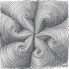 Awesome idea for OP Art Tangle Doodle, Tangle Art, Zen Doodle, Doodle Art, Zentangle Drawings, Doodles Zentangles, Doodle Drawings, Doodle Patterns, Zentangle Patterns
