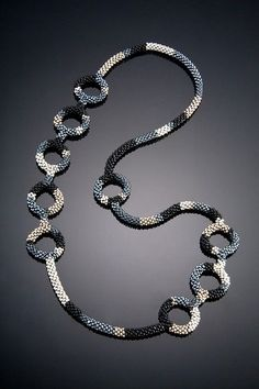 Shelley Jones, Artist - for Karen Beads Jewelry, Beaded Jewelry Designs, Necklace Designs, Jewelry Crafts, Handmade Jewelry, Jewellery, Bead Crochet Patterns, Bead Crochet Rope, Seed Bead Necklace