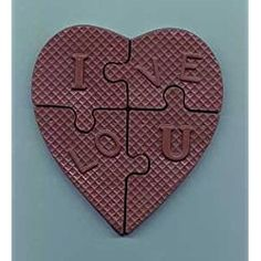 "Chocolate ""I Love You"" Heart Puzzle"