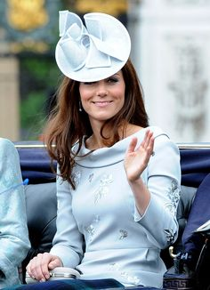 Kate waved from a carriage during the Trooping the Colour ceremony, wearing one of her favorite designers, Erdem. via StyleList