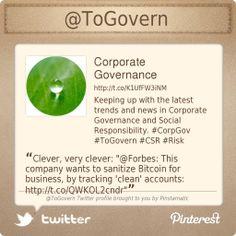 @Corporate Governance's Twitter profile