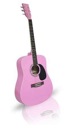Pink Acoustic Guitar For Christmas!