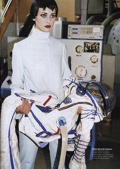 vogue in space #fashion #retro