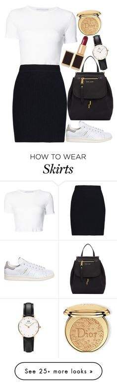 """""""Untitled#1573"""" by mihai-theodora on Polyvore featuring Rosetta Getty, Helmut Lang, adidas, Marc Jacobs, Tom Ford, Daniel Wellington and Christian Dior"""