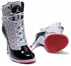 Womens Nike Air Jordan 6 Rings High Heels White Black Red1