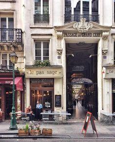 "lilyadoreparis: ""Passage du Grand Cerf, Paris 2e., by Candice Perrin. """