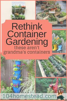 It's time to think beyond nursery pots on the front porch. Container gardening can offer so much more. Make a statement with your containers.