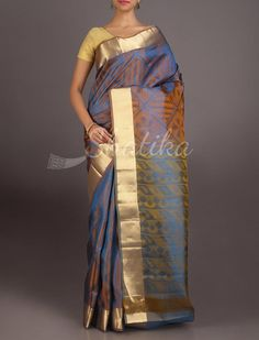 Nalini Metallic Subtle Designed Stylish #CoimbatoreSilkSaree
