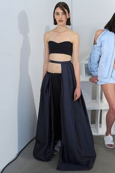 Caitlin Price, Fashion East SS16 #LFW I would like to do something similiar to the top piece except all the way around.