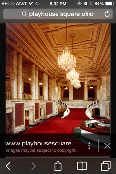 The Grand Lobby Of The Palace Theatre, PlayhouseSquare, Cleveland, Ohio.