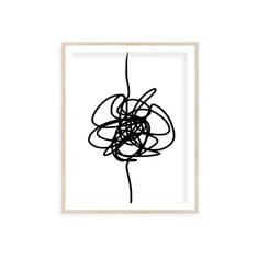Knot minimal abstract art, extra large wall art abstract, Continuous line, line drawing print, digital download, Digital print.