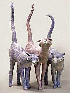 papier-mâché | les trois chats