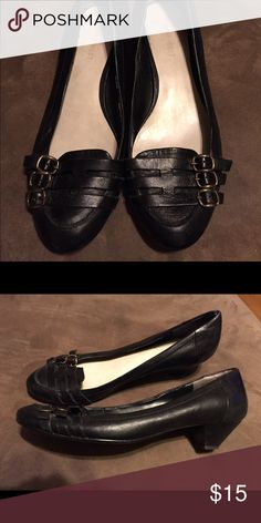 Black small heels Size 8 Nine West Shoes Flats & Loafers