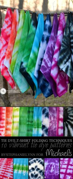 10 Vibrant DIY Tie-Dye Designs and how to make them from MichaelsMakers  By Stephanie Lynn