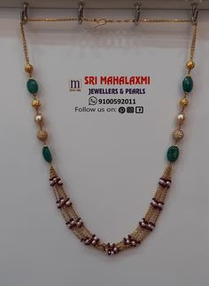 New collection added in multiple rows South Sea Pearls and Beads chains. Visit showroom for more collection or Whatsapp/Call us on 9100592011 for any queries. Gold Mangalsutra Designs, Gold Earrings Designs, Gold Jewellery Design, Bead Jewellery, Necklace Designs, Gold Wedding Jewelry, Gold Jewelry, Gold Necklace, Indian Jewelry Sets