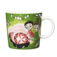 """Thingumy and Bob and the King's Ruby. It's beautifully illustrated by Arabia artist Tove Slotte and the illustration can be seen in the original book """"Finn Family Moomintroll"""" by Tove Jansson. Moomin Books, Moomin Mugs, Moomin Shop, Tove Jansson, Bob, Hobgoblin, Porcelain Mugs, Shape Design, Mug Cup"""