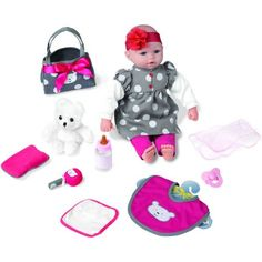 My Sweet Love 18 inch Baby Doll Gift Set with Bear