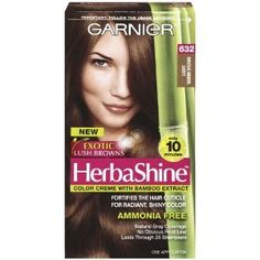 Garnier Herbashine Haircolor, 632 Light Warm Brown. #beauty, #skincare, #hair #color, #style