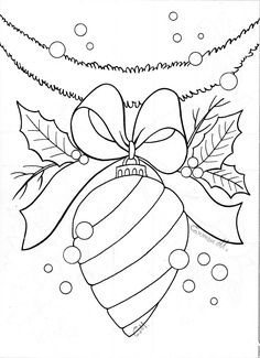 Super Embroidery Christmas Ornaments Coloring Pages Ideas Christmas Colors, Christmas Art, Christmas Ornaments, Christmas Coloring Pages, Coloring Book Pages, Christmas Drawing, Theme Noel, Christmas Templates, Christmas Embroidery