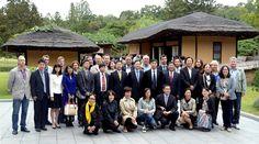 제10차 평양국제과학기술도서전람회 참가자들 만경대 방문