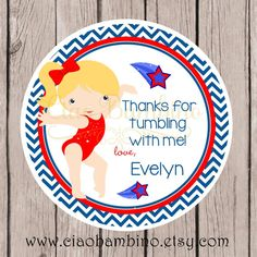 Gymnastics Birthday Party Favor Tags or Stickers / by ciaobambino