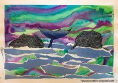 Landscape - Blue whale and northern light  - Tatjanaknudsen.blogspot.com