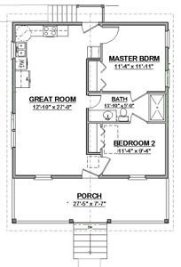 design plans free Details about Custom Small House Home Building Plans 2 bed Narrow PDF file Custom Small House Home Building Plans 2 bed Narrow PERMIT SET Cottage Floor Plans, Small House Floor Plans, Cabin Floor Plans, Cottage Plan, Shotgun House Floor Plans, Cottage House, House Bath, Lake Cottage, The Plan