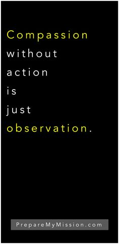 Be more than an observer.