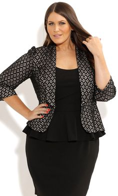 City Chic - MISS LACEY JACKET - Women's plus size fashion