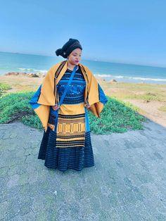 African Wedding Dress, African Dresses For Women, African Print Dresses, African Fashion Dresses, African Women, South African Traditional Dresses, Traditional Fashion, Traditional Outfits, Traditional Weddings