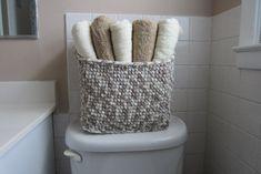 Handtuch-Speicher-Korb groß Bin für Badezimmer und von maybe4you