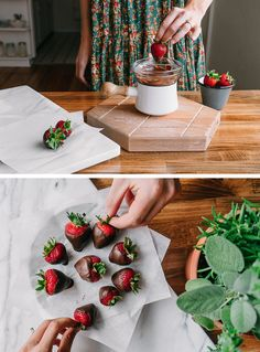 Chocolate Covered Strawberries Click through to read more!