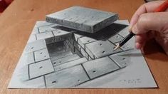 3d drawings on paper - YouTube